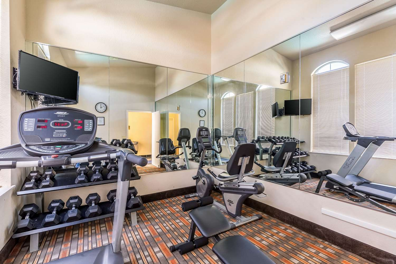 Fitness/ Exercise Room - Quality Suites North Houston