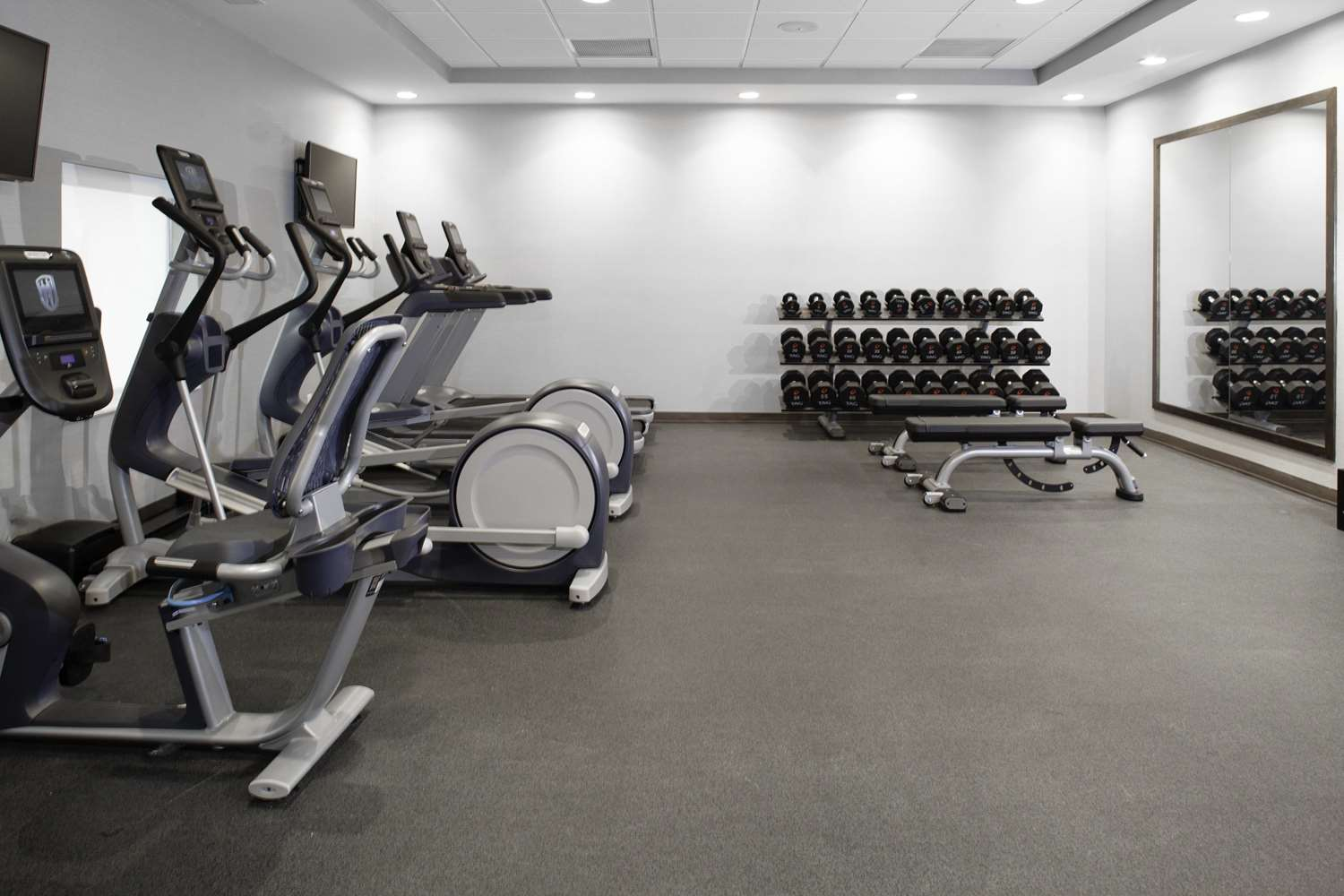 Fitness/ Exercise Room - Home2 Suites by Hilton Downtown Bloomington