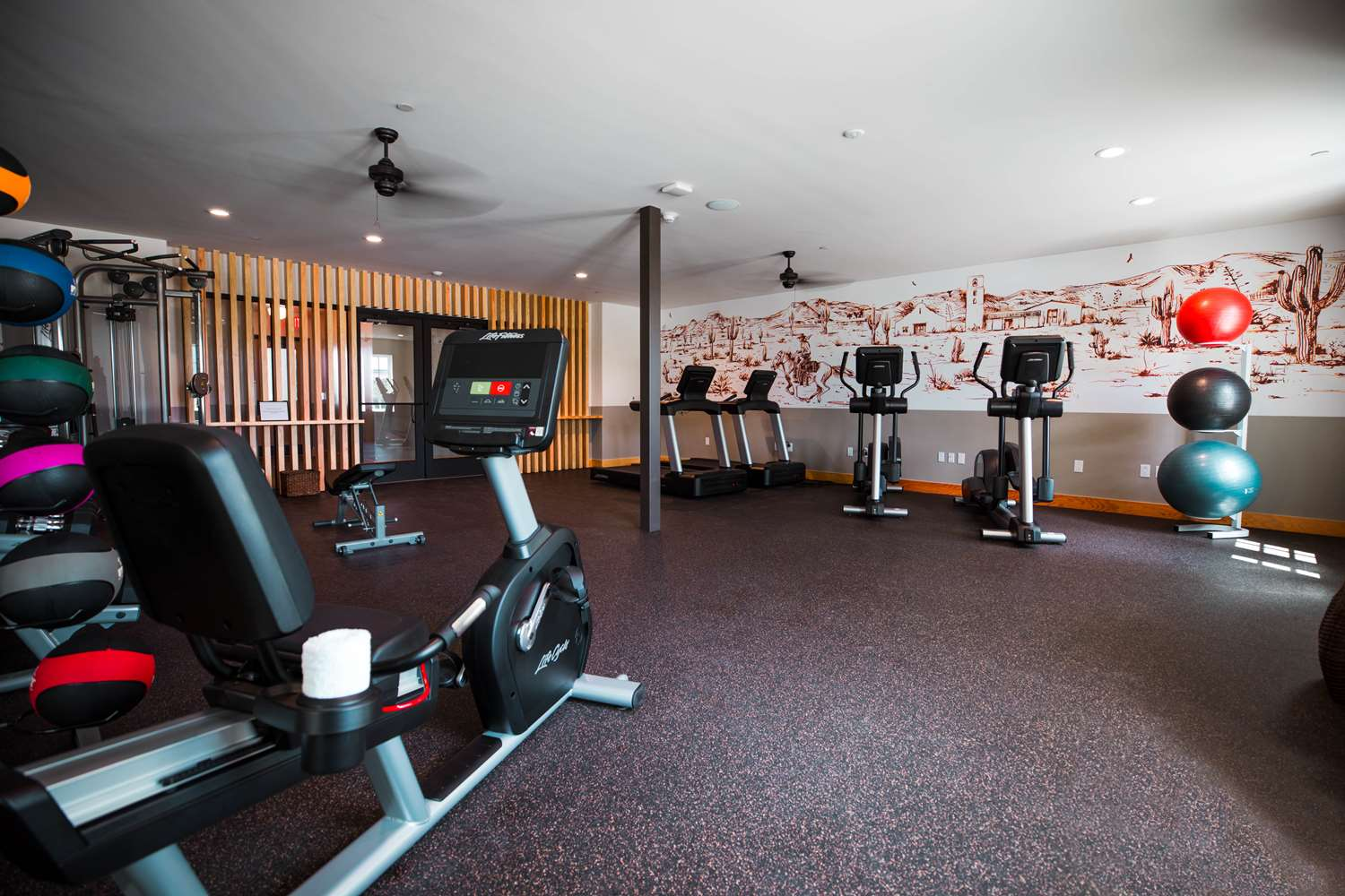 Fitness/ Exercise Room - Texican Court Hotel Irving