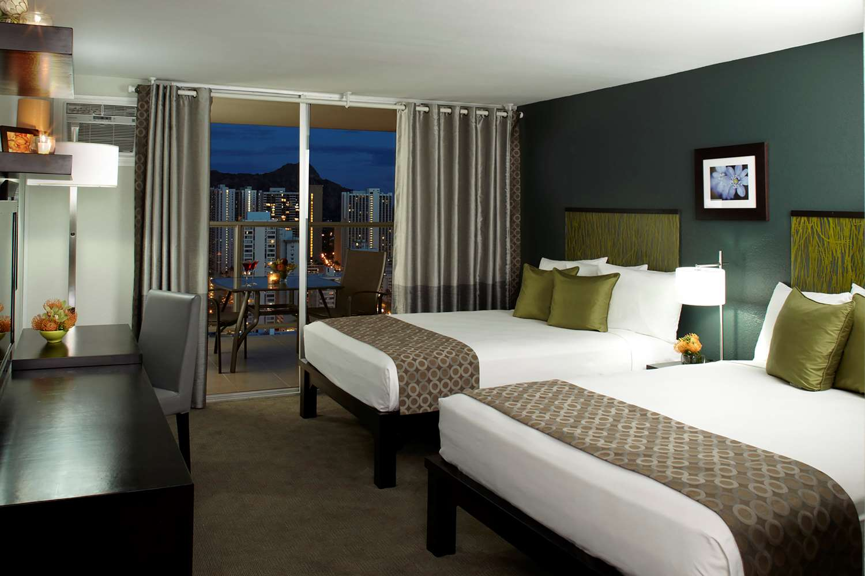 Room - Aqua Skyline at Island Colony Hotel Waikiki Honolulu