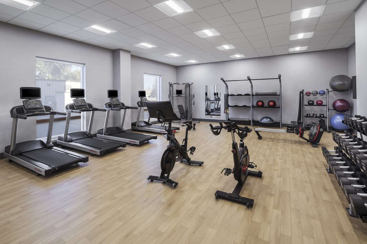 Fitness/ Exercise Room - Homewood Suites by Hilton Boston Woburn