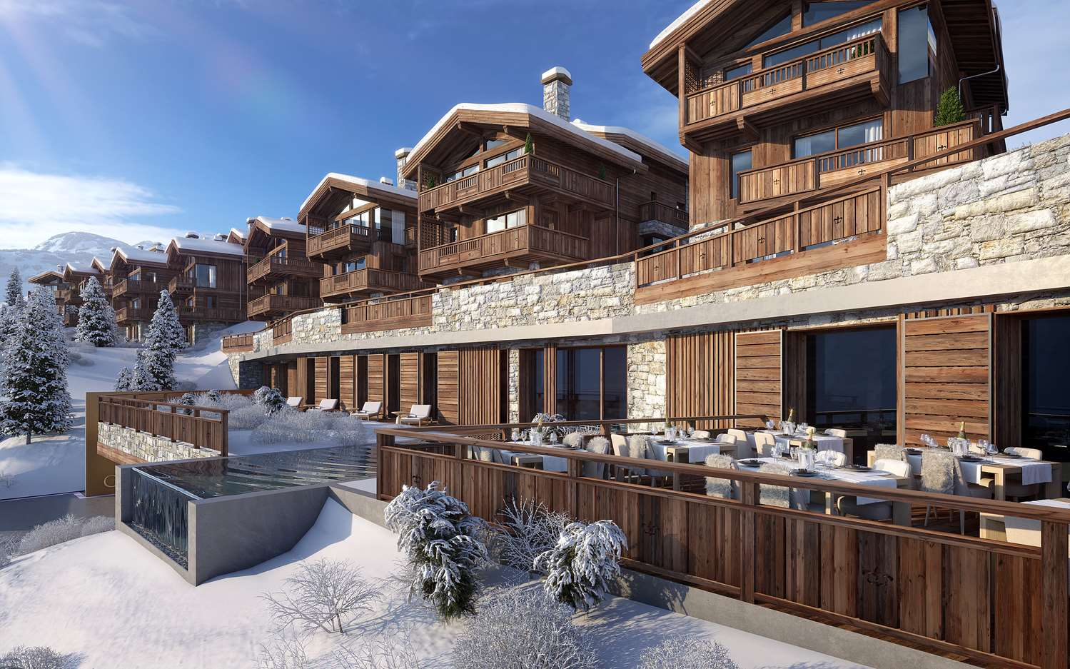 Ultima Courchevel Exterior with pool