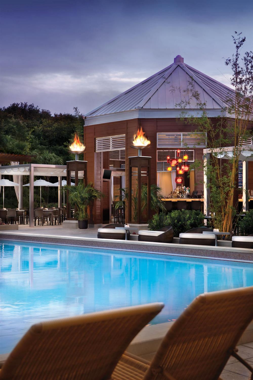 Cabana Bar and Beach Club at Dusk