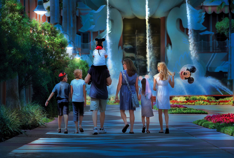 Family at Walt Disney World Swan and Dolphin