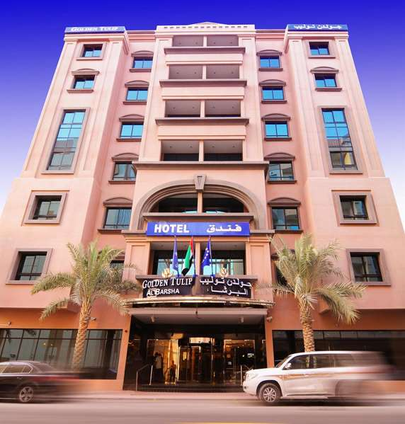 View of the hotel Dubai GOLDEN TULIP AL BARSHA DUBAI. The hotel includes the following equipment: Air condition available, Secure parking, Parking, Restaurant, Meeting rooms, Pool outdoor.
