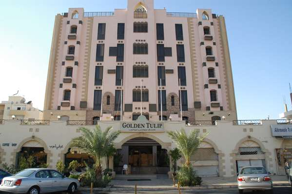 View of the hotel Aqaba GOLDEN TULIP AQABA RED SEA. The hotel includes the following equipment: Parking, Public area free wifi, Air condition available.