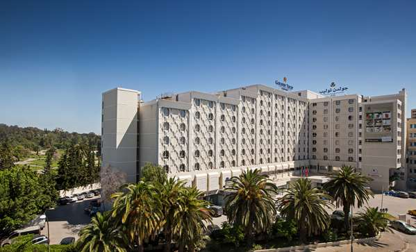 View of the hotel Tunis GOLDEN TULIP EL MECHTEL. The hotel includes the following equipment: Secure parking, Parking, Air condition available, Public area free wifi.