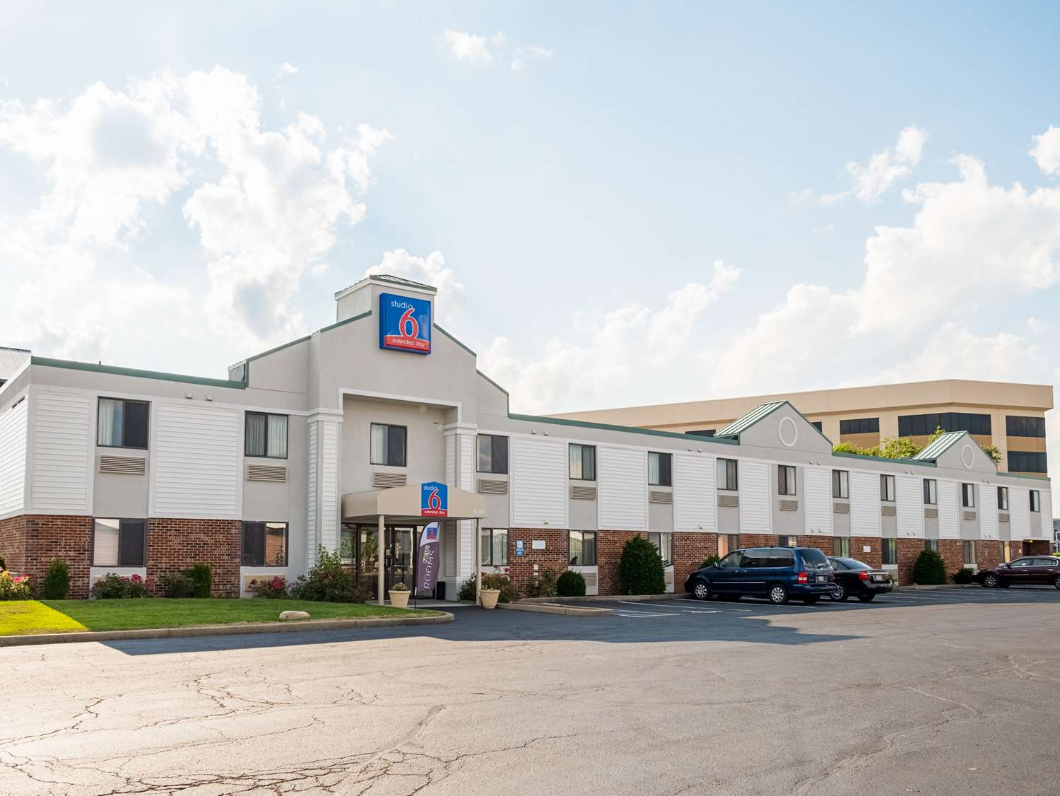 Exterior View Studio 6 Extended Stay Hotel Miamisburg