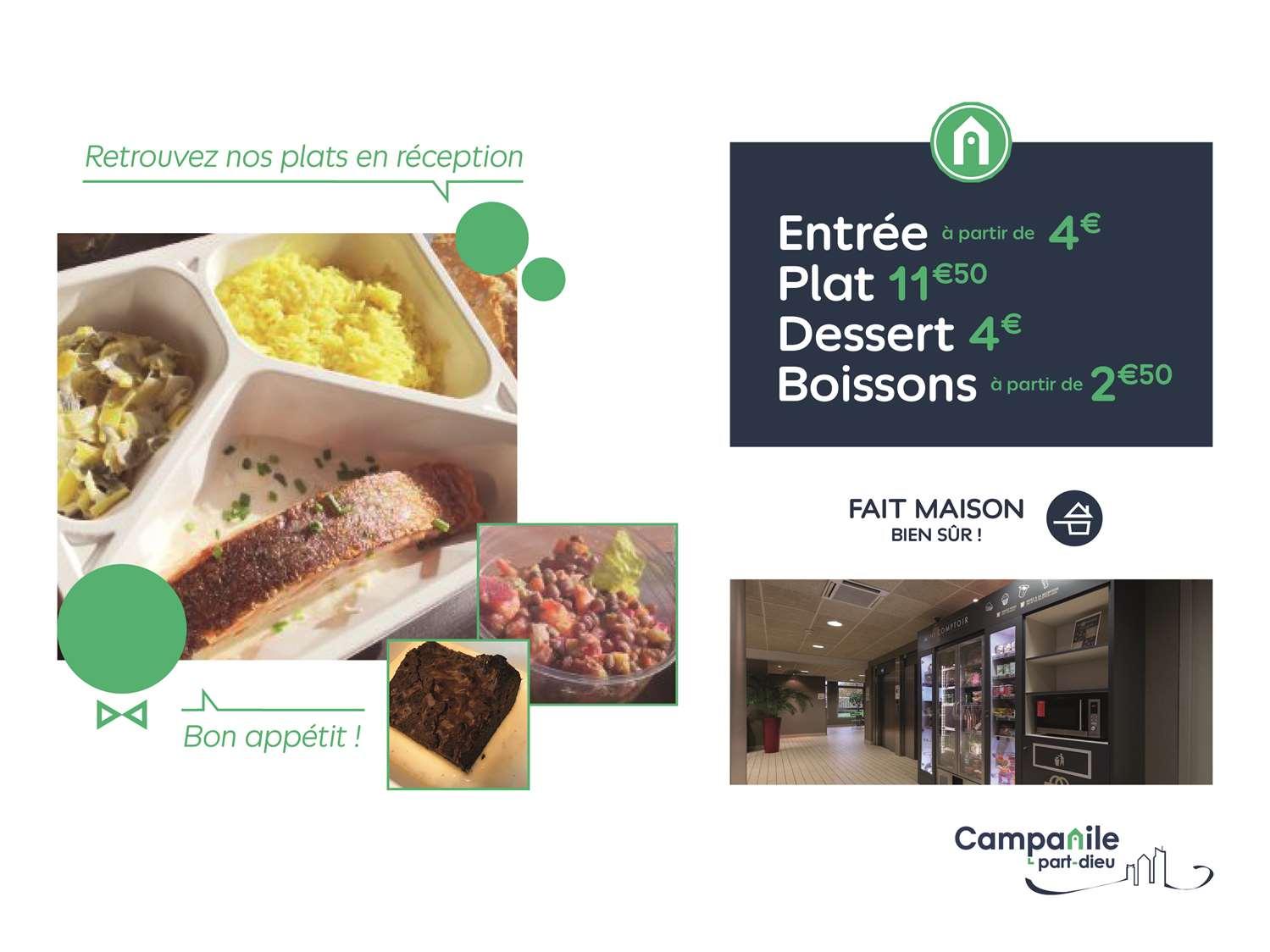 Restaurant - Hotel Campanile Lyon Centre - Gare Part Dieu