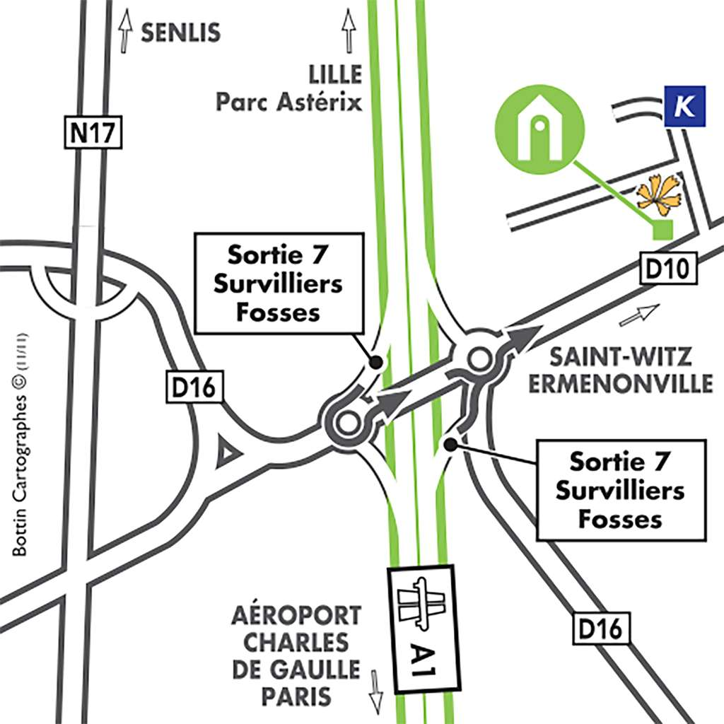 Hotel Campanile Roissy Saint Witz Campanile