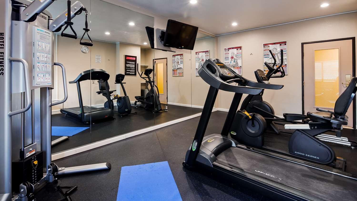 Fitness/ Exercise Room - Best Western John Muir Inn Martinez