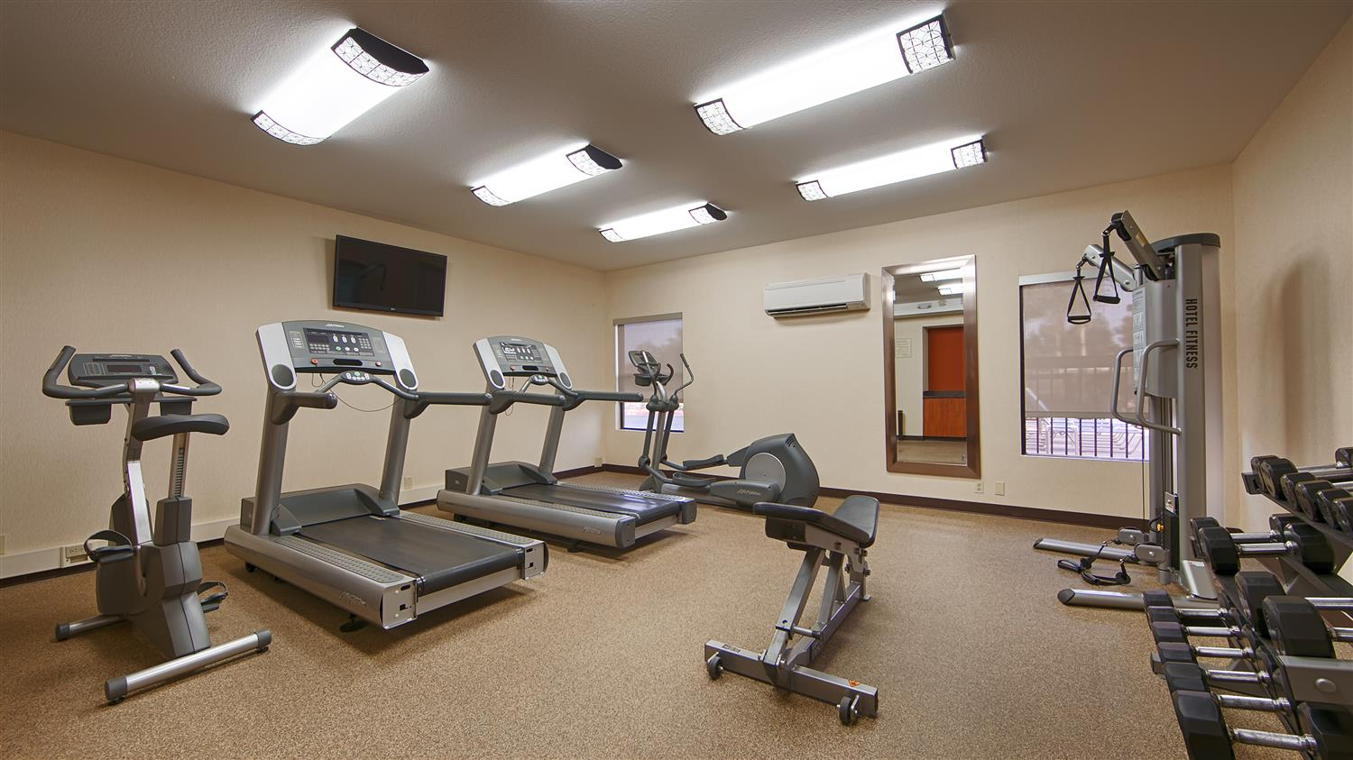 Fitness/ Exercise Room - Best Western Plus Fresno Airport Hotel