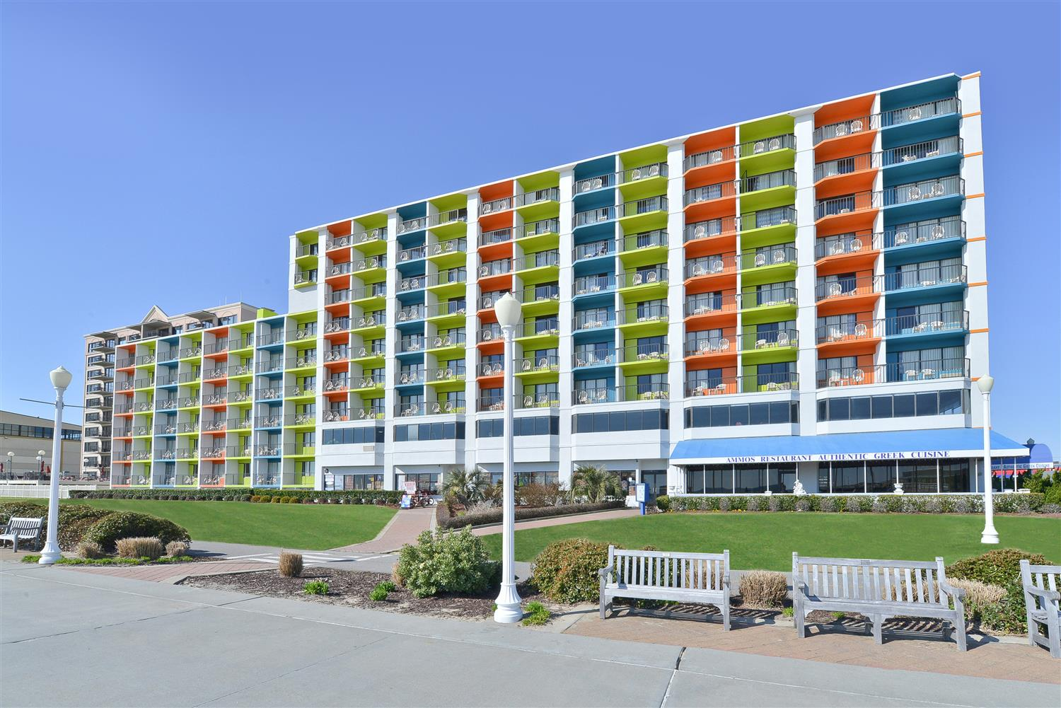 Exterior View Best Western Plus Sandcastle Beachfront Hotel Virginia Beach