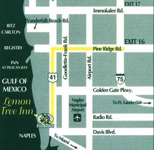 Map - Lemon Tree Inn Naples