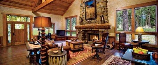 Living Room of Luxury Vacation Home at Paws Up