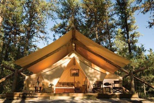Luxury Camping Tent at Paws Up