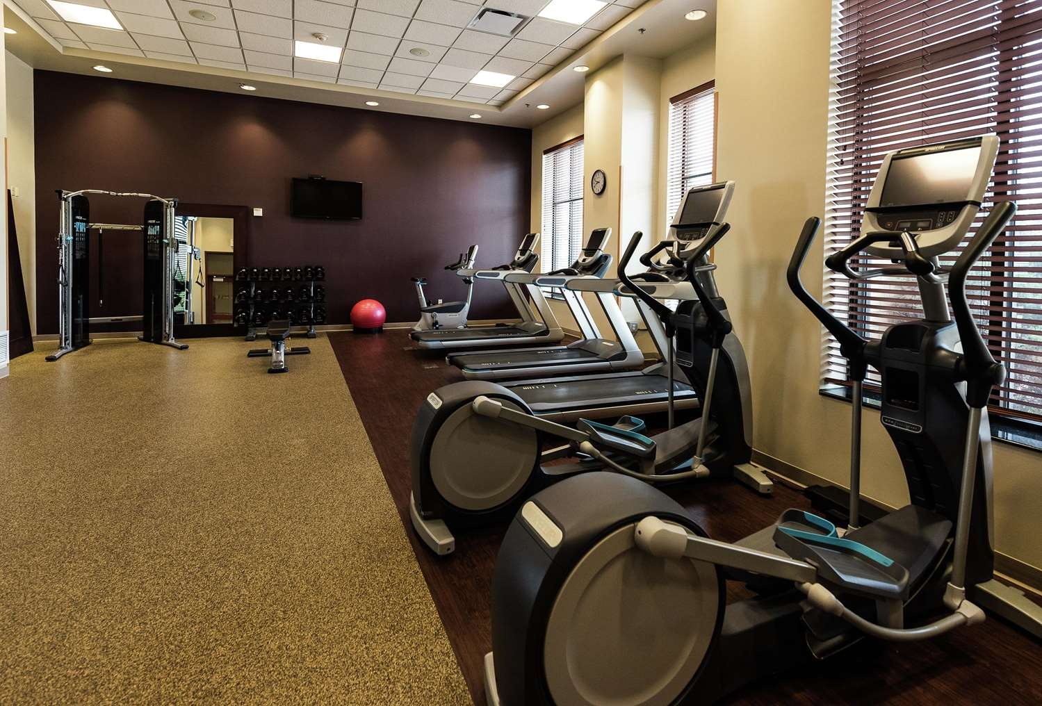 Fitness/ Exercise Room - Embassy Suites Brooklyn Center