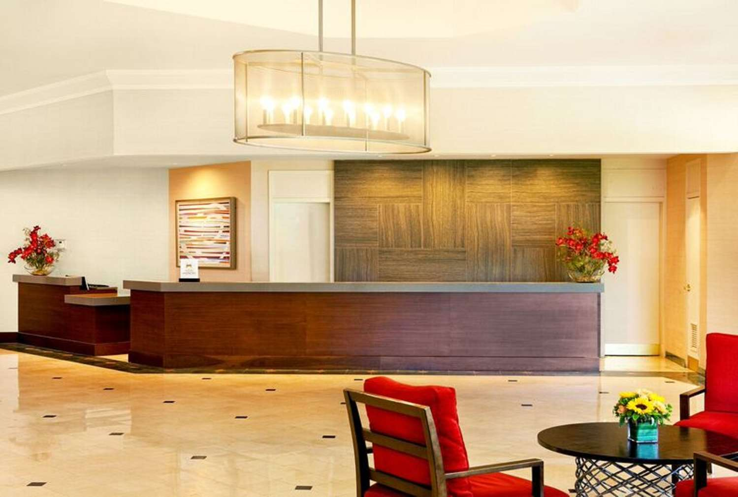 Lobby - Hilton Hotel Woodcliff Lake
