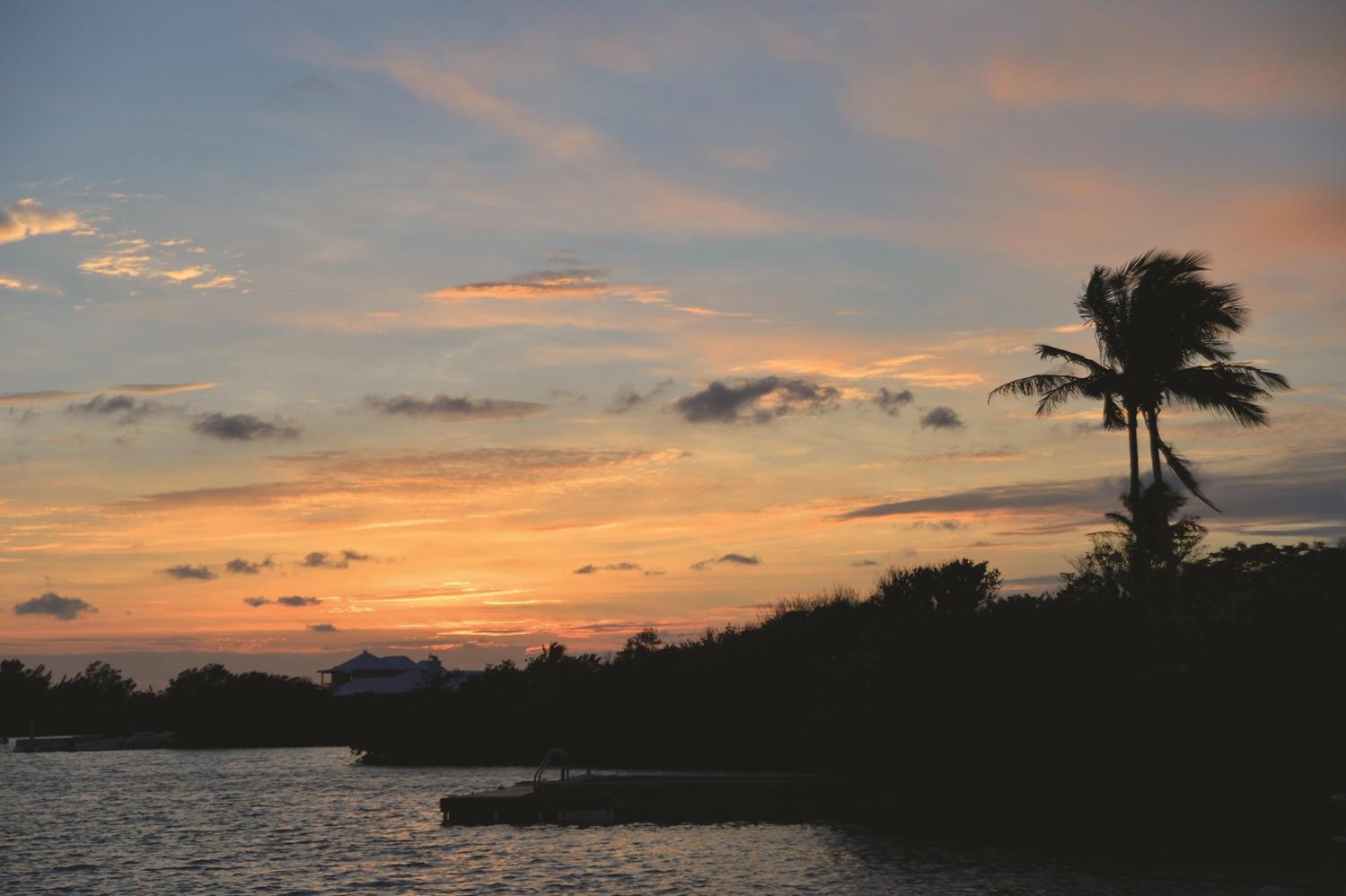 Waterlot View at Sunset