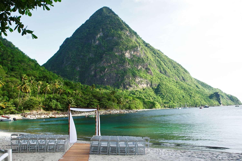 Piton Wedding on Sugar Beach