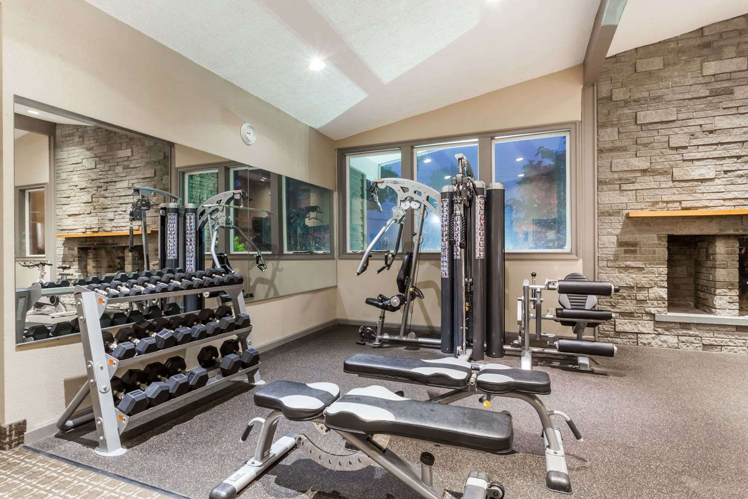 Fitness/ Exercise Room - Ramada Hotel at Sullivan Center Rock Hill