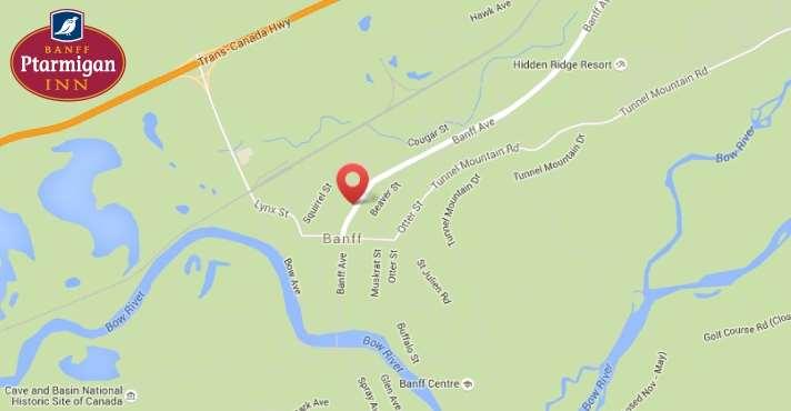 Map - Banff Ptarmigan Inn