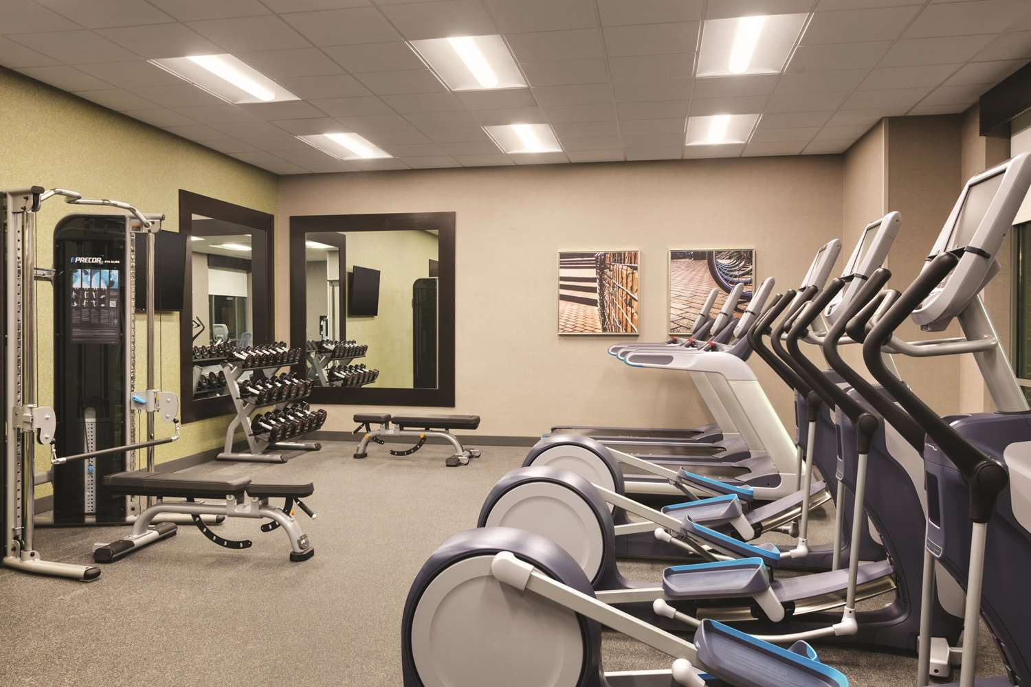 Fitness/ Exercise Room - Home2 Suites by Hilton Downtown Birmingham