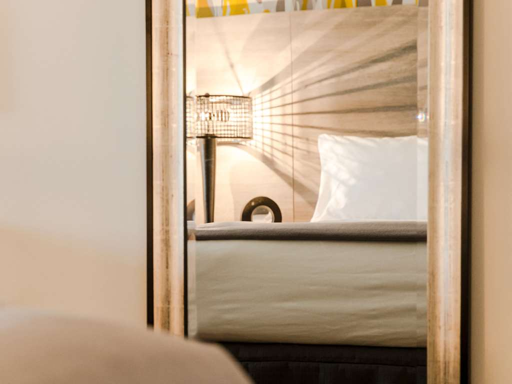 Artistically appointed guest room details