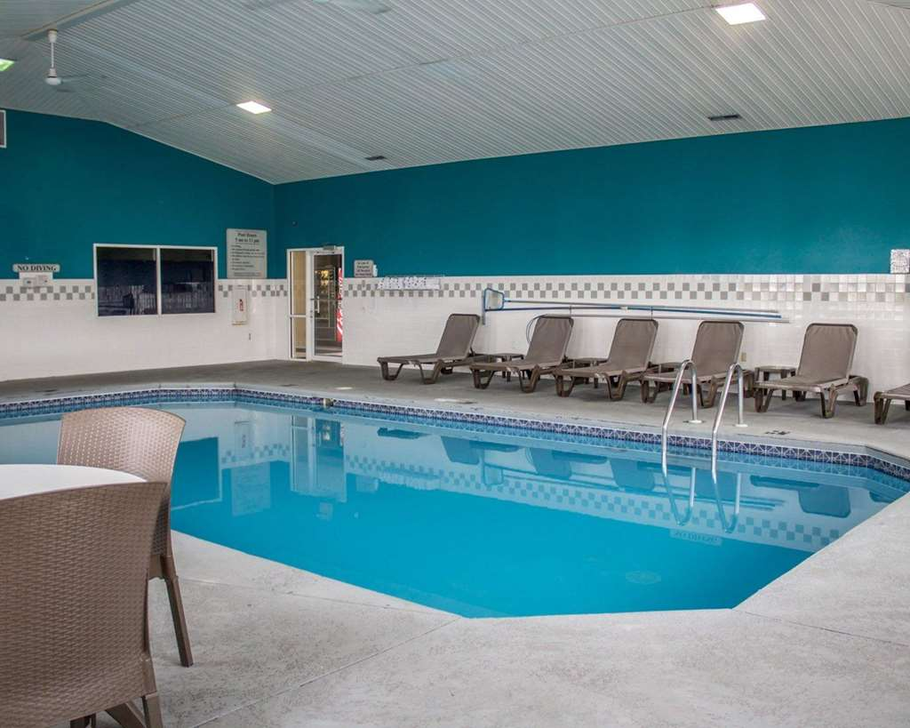 Indoor pool with lounge area